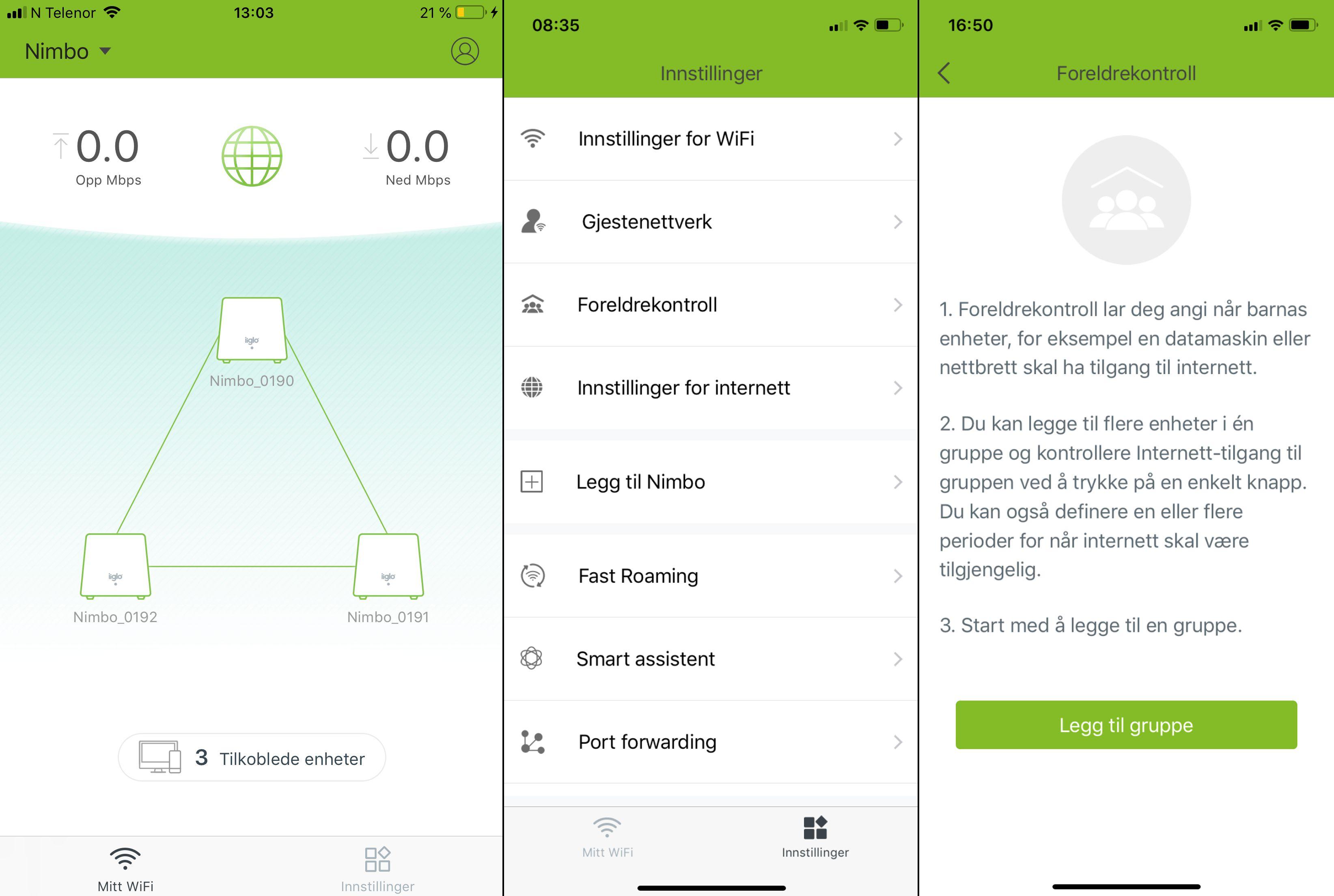 Nimbo-appen er enkel, men grei å ha med å gjøre.