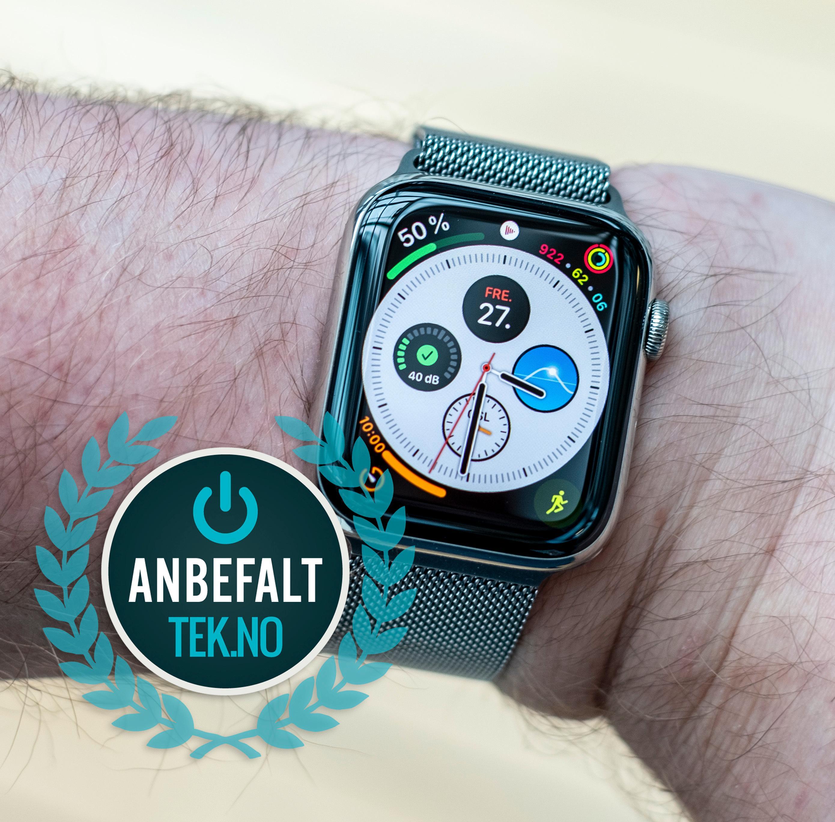 Hvis du har en iPhone tråkker du absolutt ikke feil om du velger en Apple Watch series 5.