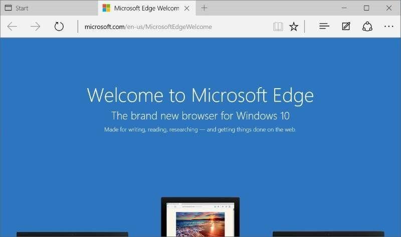 Edge-nettleseren blir raskere, får bedre lesemodus og støtte for progressive webapplikasjoner. Bildet viser ikke den nye versjonen.