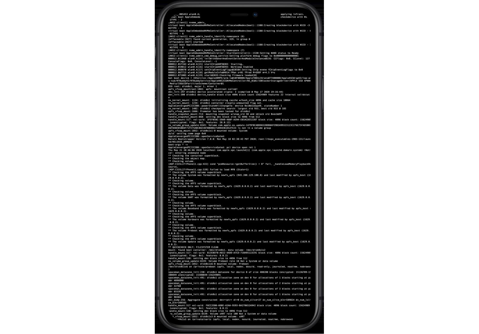 De nye iPhone-variantene som sendes til hackere får full kommandolinjetilgang med administratorrettigheter. Telefonene er så spesielle at Apple advarer om at de ikke skal tas med ut av brukernes laboratorier.