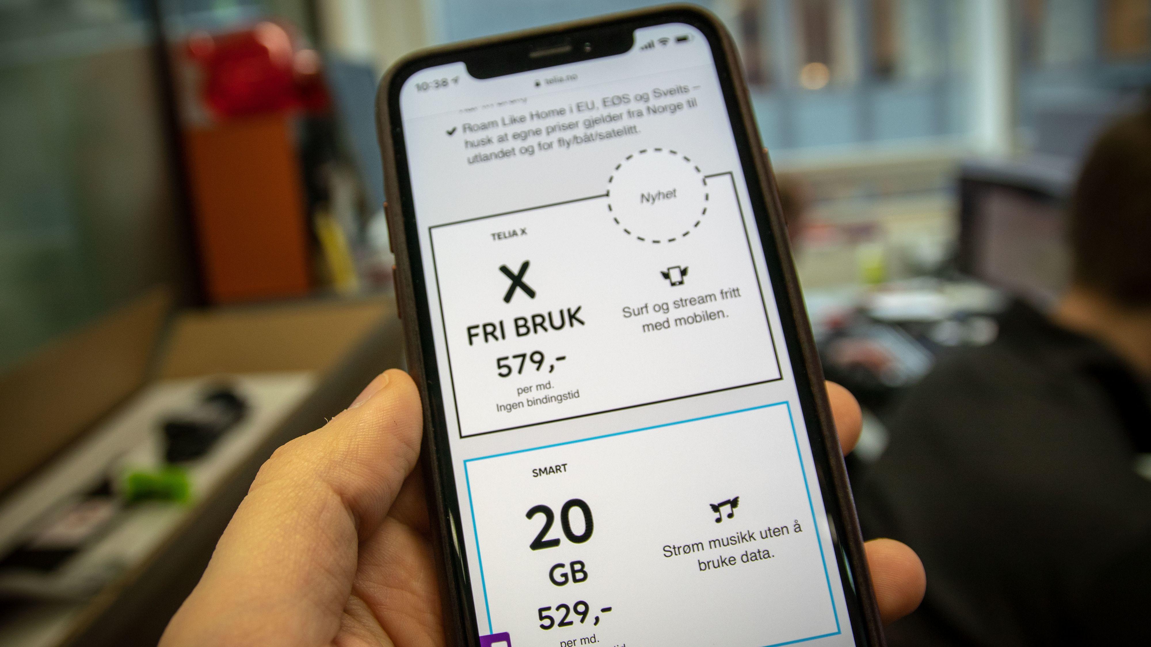 Også nylanserte Telia X kjører en hastighetsbegrensning. Men den teller ned fra 40 gigabyte hver måned, før resten av måneden blir treg. Chili fornyer en grense på 5 gigabyte hvert døgn.