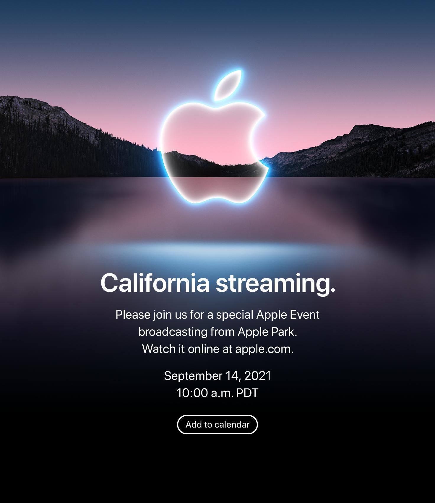 Slik ser hele invitasjonen ut. Alle kan titte på via Apple.com.