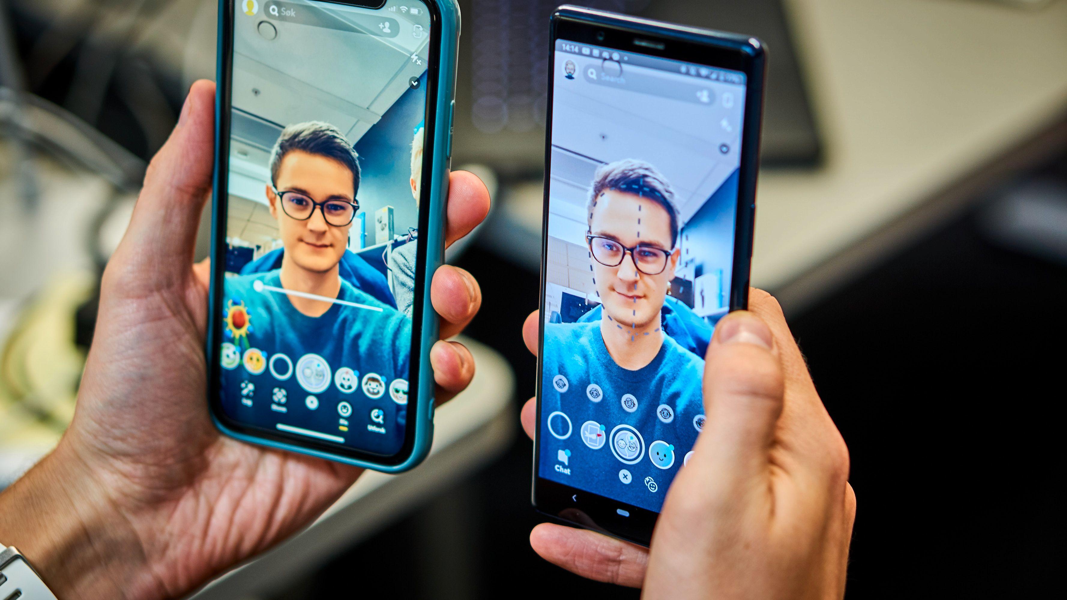 Funksjonen ser forskjellig ut på iOS (venstre) og Android (høyre).