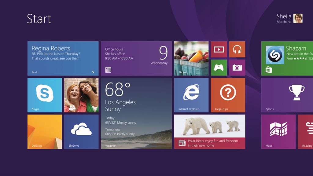 Startskjermen på Windows 8.1.Foto: Microsof