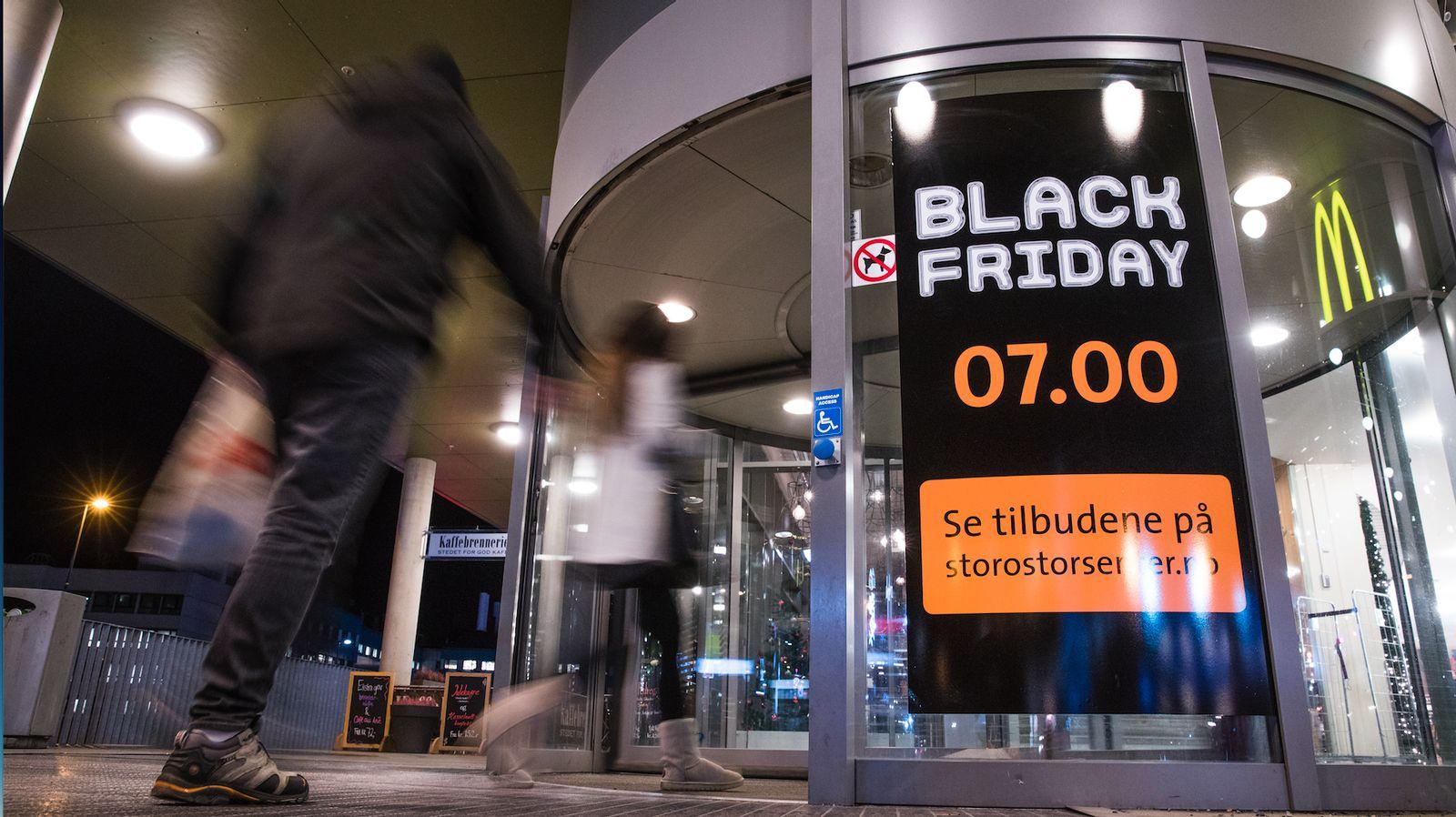 Black Friday er en stor handledag i Norge. Her fra 2018.