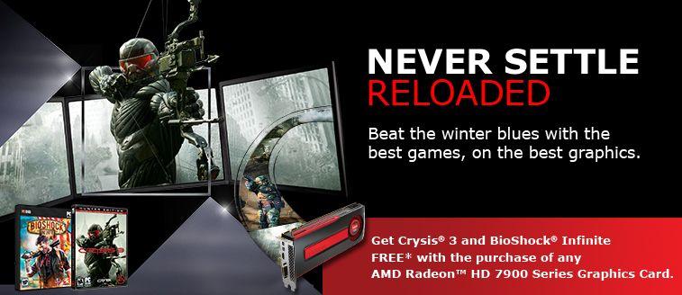 AMD satser med Never Settle Reloaded på å lokke spillere over med titler som ikke er lansert ennå.Foto: AMD