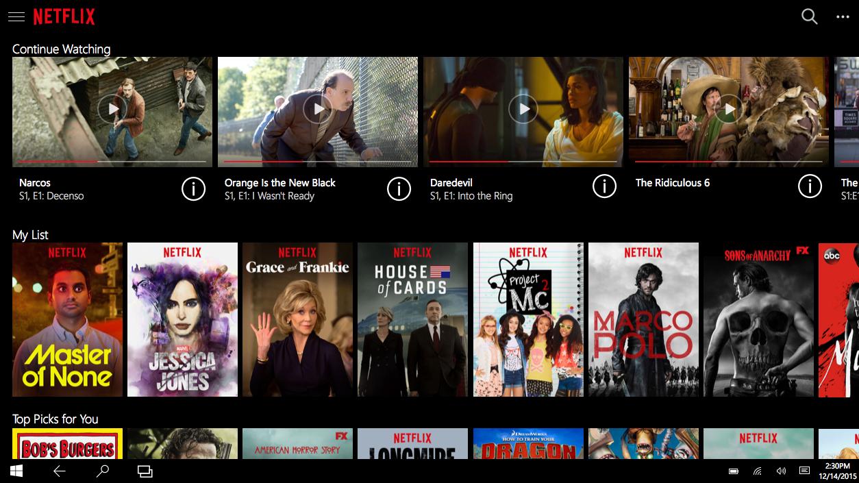 Netflix har blitt ny på Windows 10