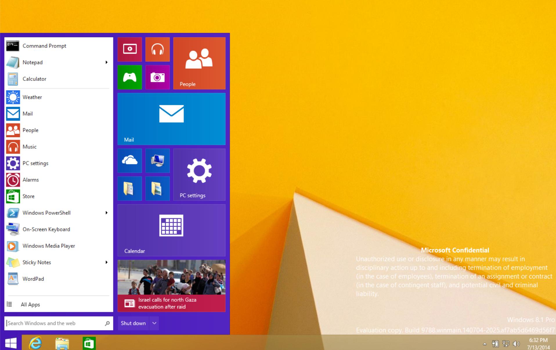 Startmenyen er etter sigende på vei tilbake, med den kjente menyen fra Windows 7 til venstre og Metro-fliser til høyre.Foto: My Digital Life