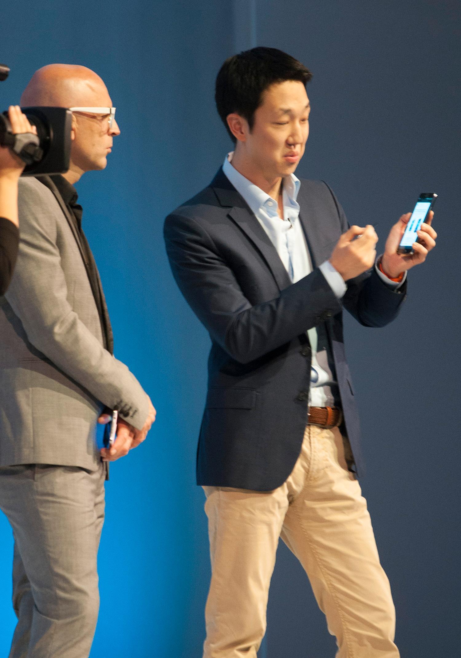 Fra demonstrasjonen av Galaxy Note III på IFA.