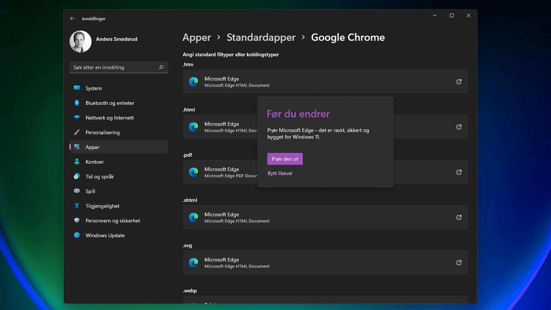 Aldri har det vært vanskeligere å bytte standardnettleser enn i Windows 11, der du må gjennom flere valg enn tidligere.