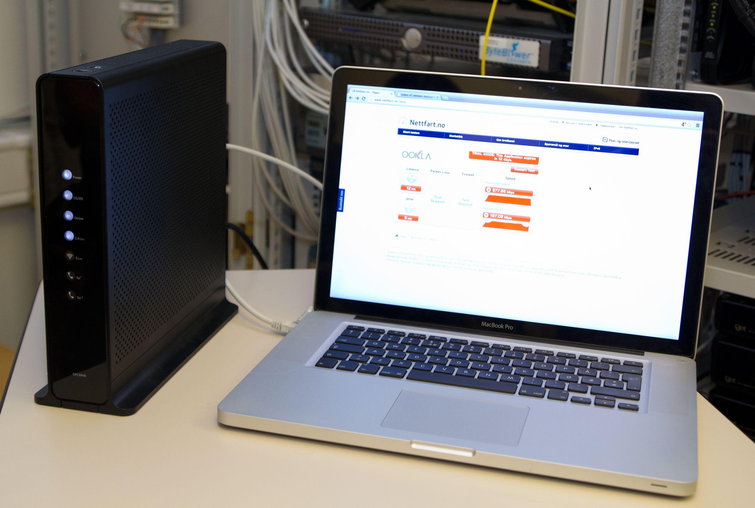 Ytelsen, målt mot Nettfart.no.Foto: Rolf B. Wegner, Hardware.no