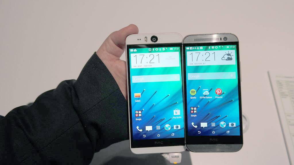 Her er nykommeren sammen med HTC One M8.