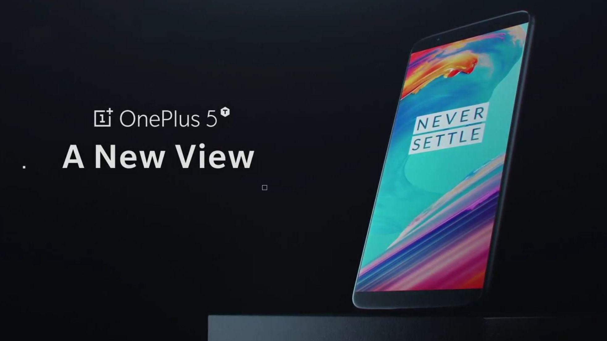 OnePlus 5T har fått rammeløs skjerm