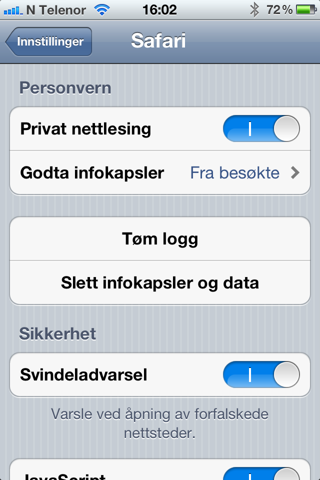 Safari-nettleseren på iPhone har en funksjon for privat nettlesing.