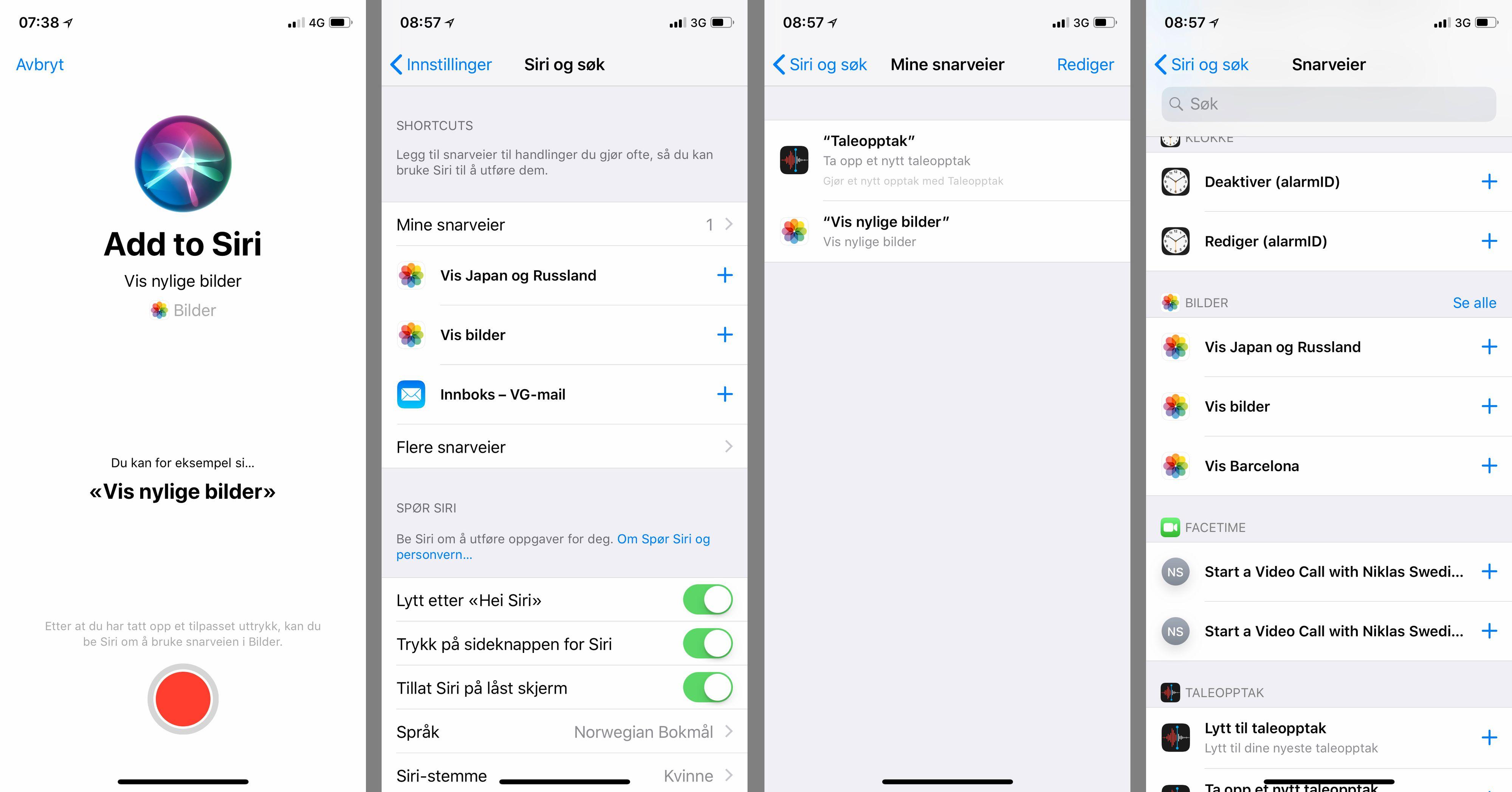 Siri kan nå utføre en mengde faste handlinger du setter opp selv. Funksjonene foreslås automatisk etter hvert som du bruker telefonen. Så fort apper med støtte for løsningen kommer skal du kunne sette opp mer detaljerte kjeder av handlinger enn disse enkle eksemplene.