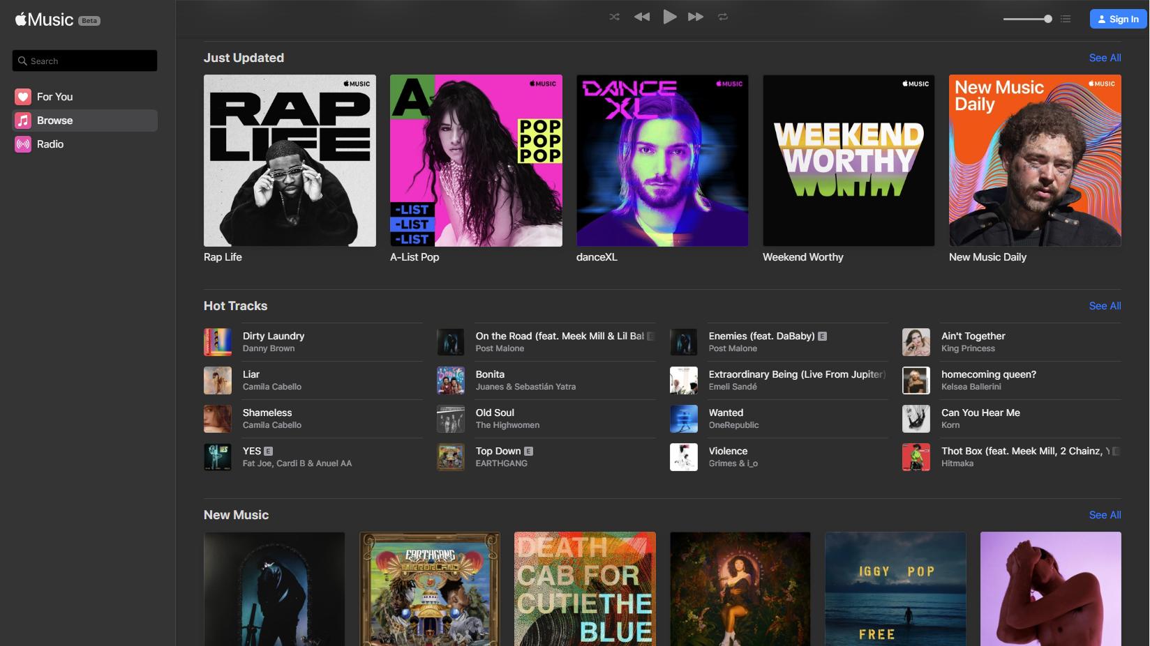 Nå er Apple Music tilgjengelig i nettleseren