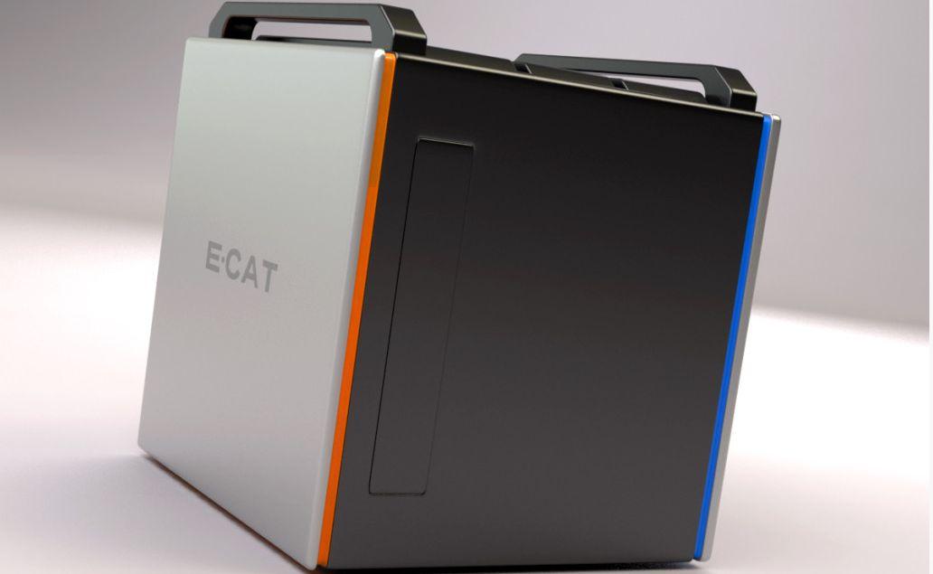 Slik forestiller Rossi og hans partnere seg at en kommersiell E-Cat-reaktor kan se ut. Det er altså ikke nødvendigvis snakk om å bygge gigantiske kraftverk mer.Foto: ecat.com
