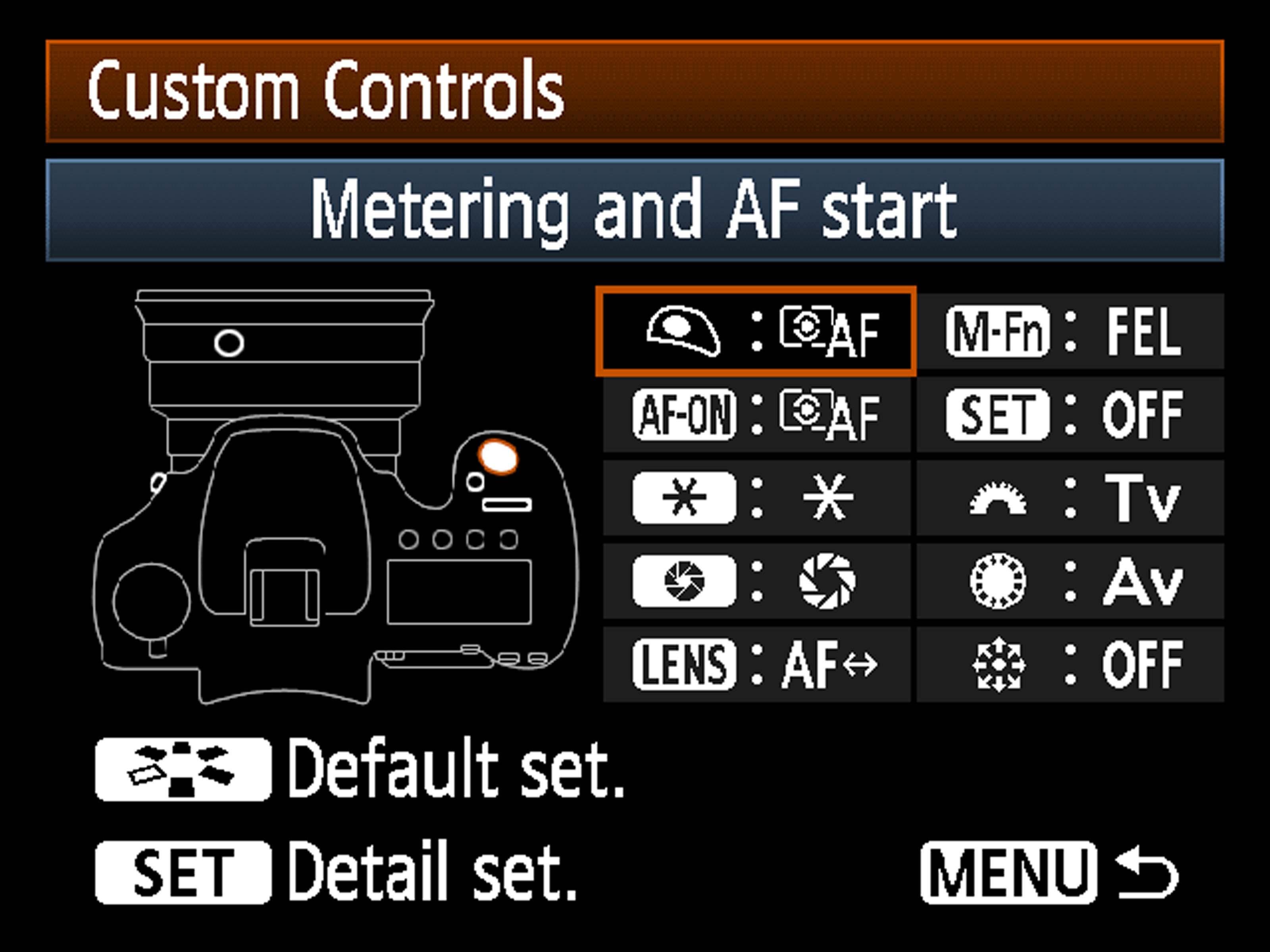 Grafisk visning av hvilken knapp du velger å tilegne en annen funksjon.