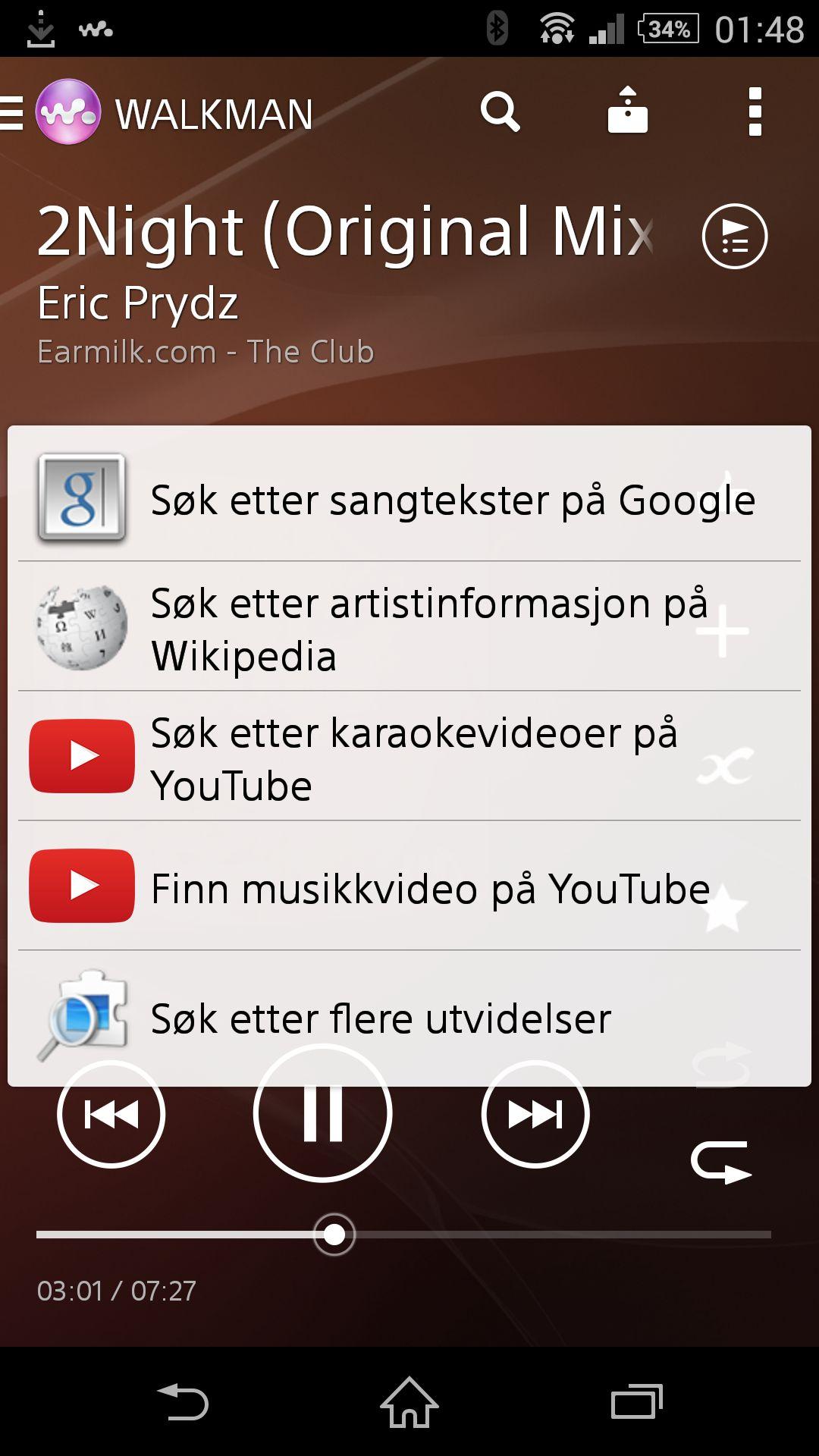 Xperia Z2 har en ytterst kapabel musikkspiller.Foto: Finn Jarle Kvalheim, Amobil.no