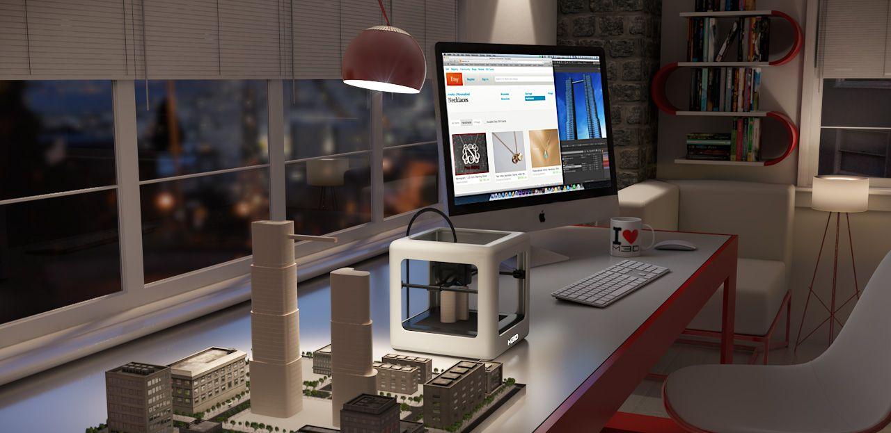 3D-skriveren er nokså kompakt.