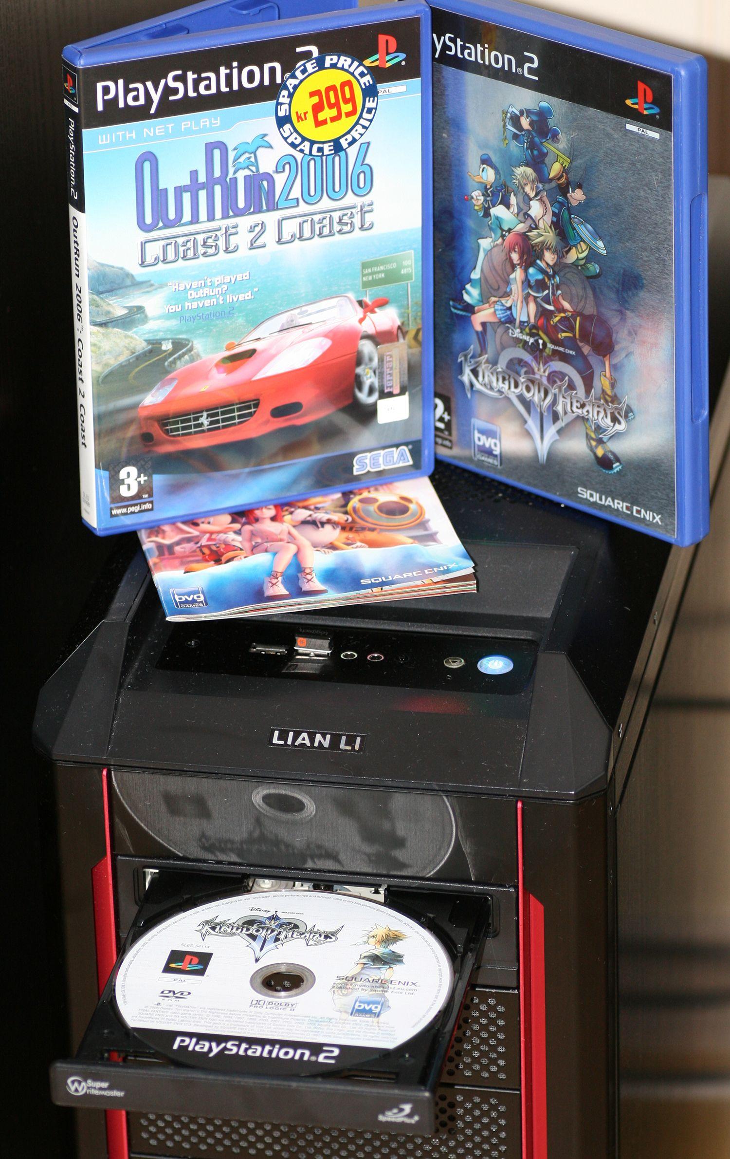 Spillene dine kan leses av med CD- eller DVD-ROM-en på PC-en din.Foto: Anders Brattensborg Smedsrud, Hardware.no