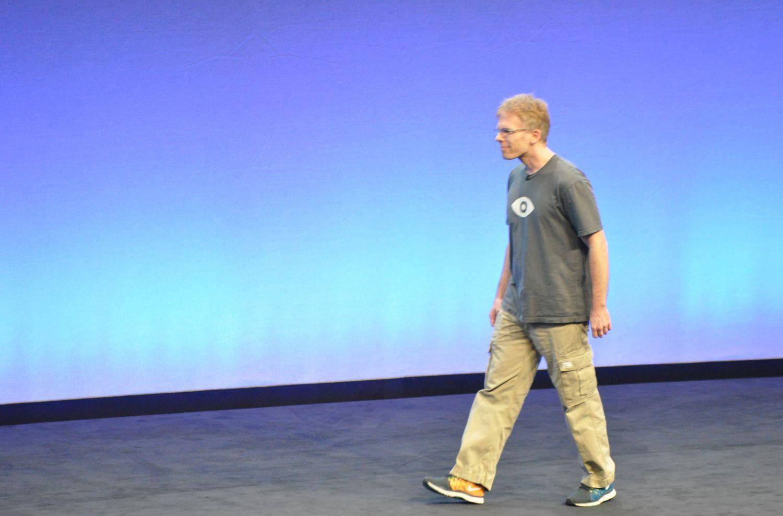 John Carmack er en legende i spillmiljøet. Nå er mannen bak spill som Doom teknologisjef i Oculus.Foto: Espen Irwing Swang, Amobil.no