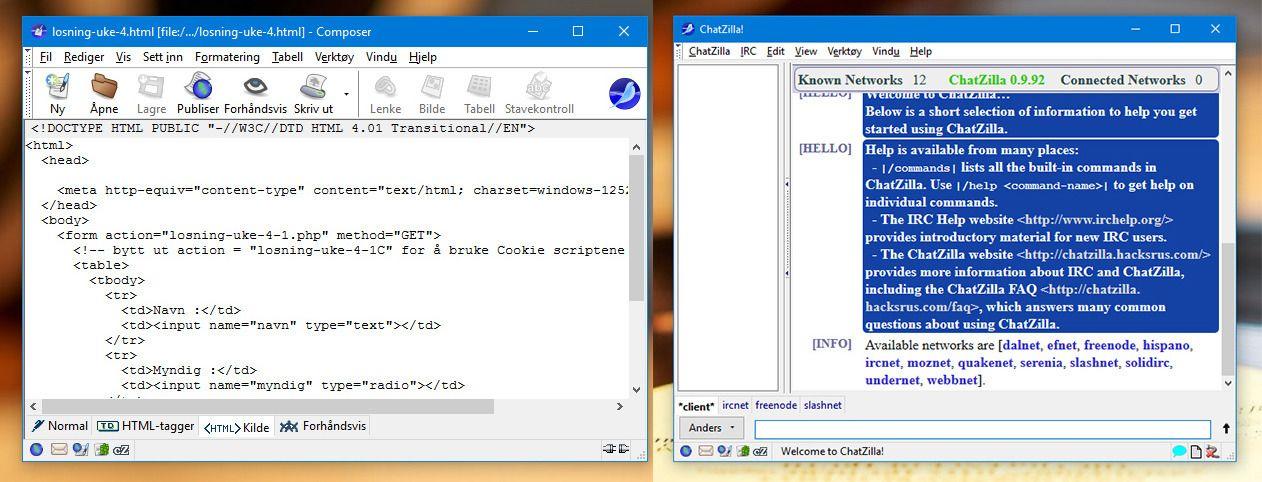 HTML-editoren er svært enkel, det samme er IRC-klienten. Begge verktøy må kunne sies å være for spesielt interesserte, være kun som en nødløsning å regne.