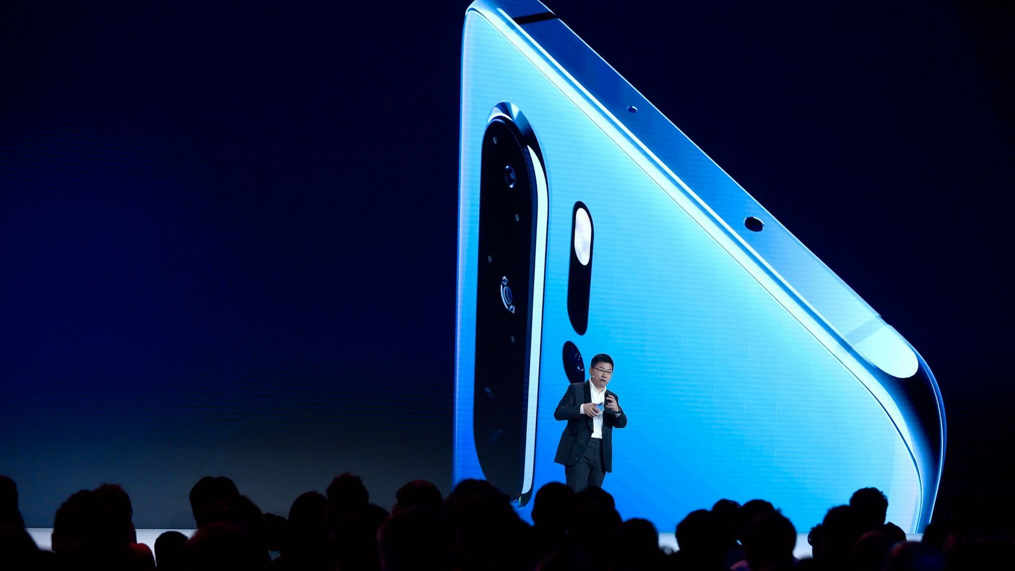 Huawei-sjefen Richard Yu under et tidligere arrangement.