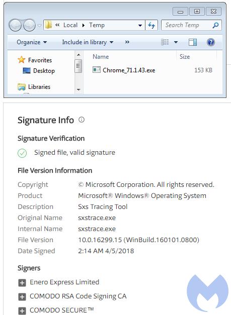 De farlige programmene signeres digitalt og ser legitime ut.