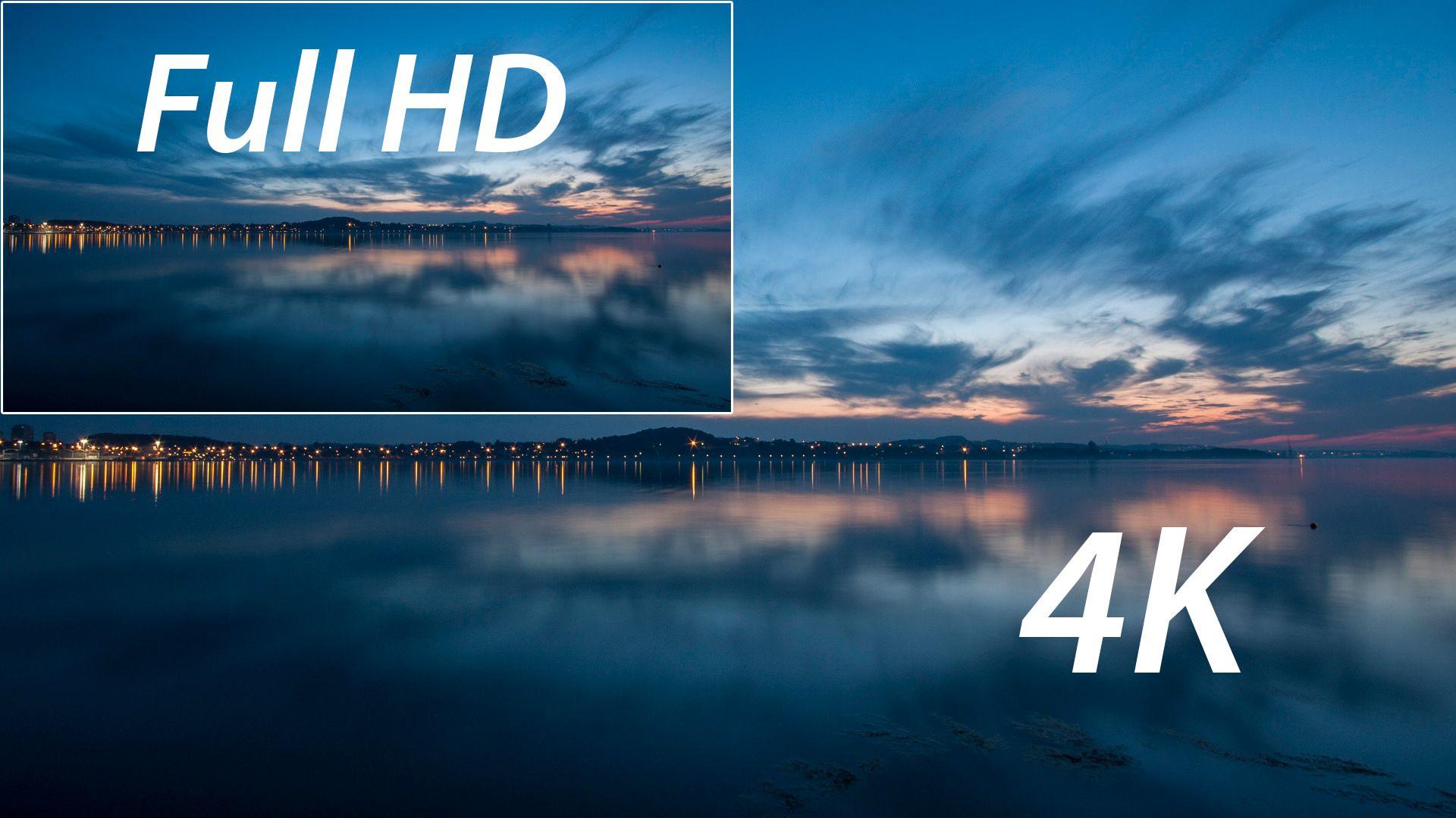 Illustrasjonsbilde: Full HD mot 4K. Foto: Kristoffer Møllevik