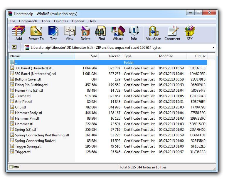 Et skytevåpen er redusert til 16 filer, på totalt 2 megabyte.