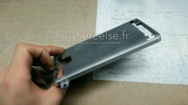 Dette kan være metallkroppen til Galaxy S6. Foto: Nowhereelse.fr