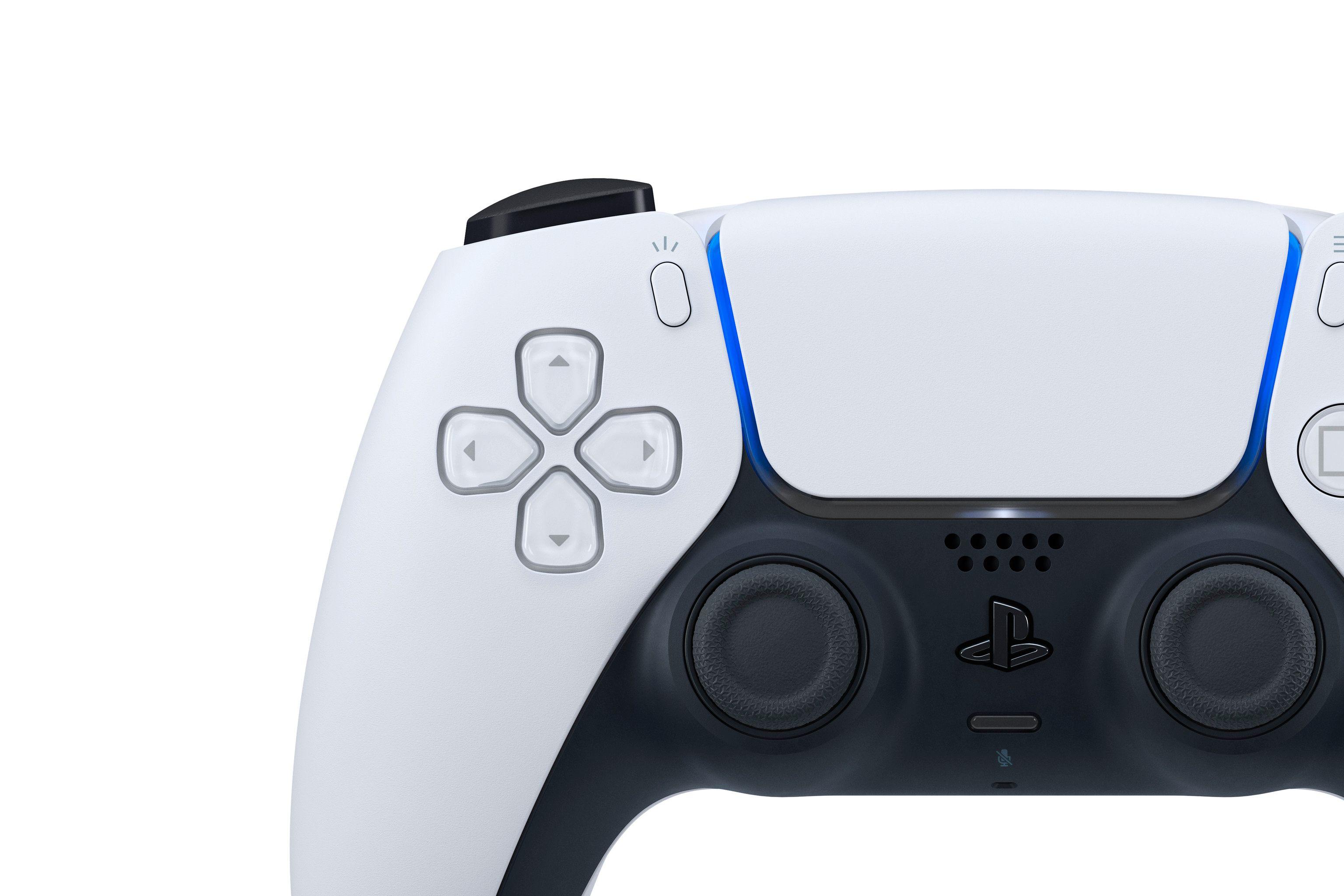 Lyspanelet er omgjort til en stripe rundt touchflata foran på kontrolleren.