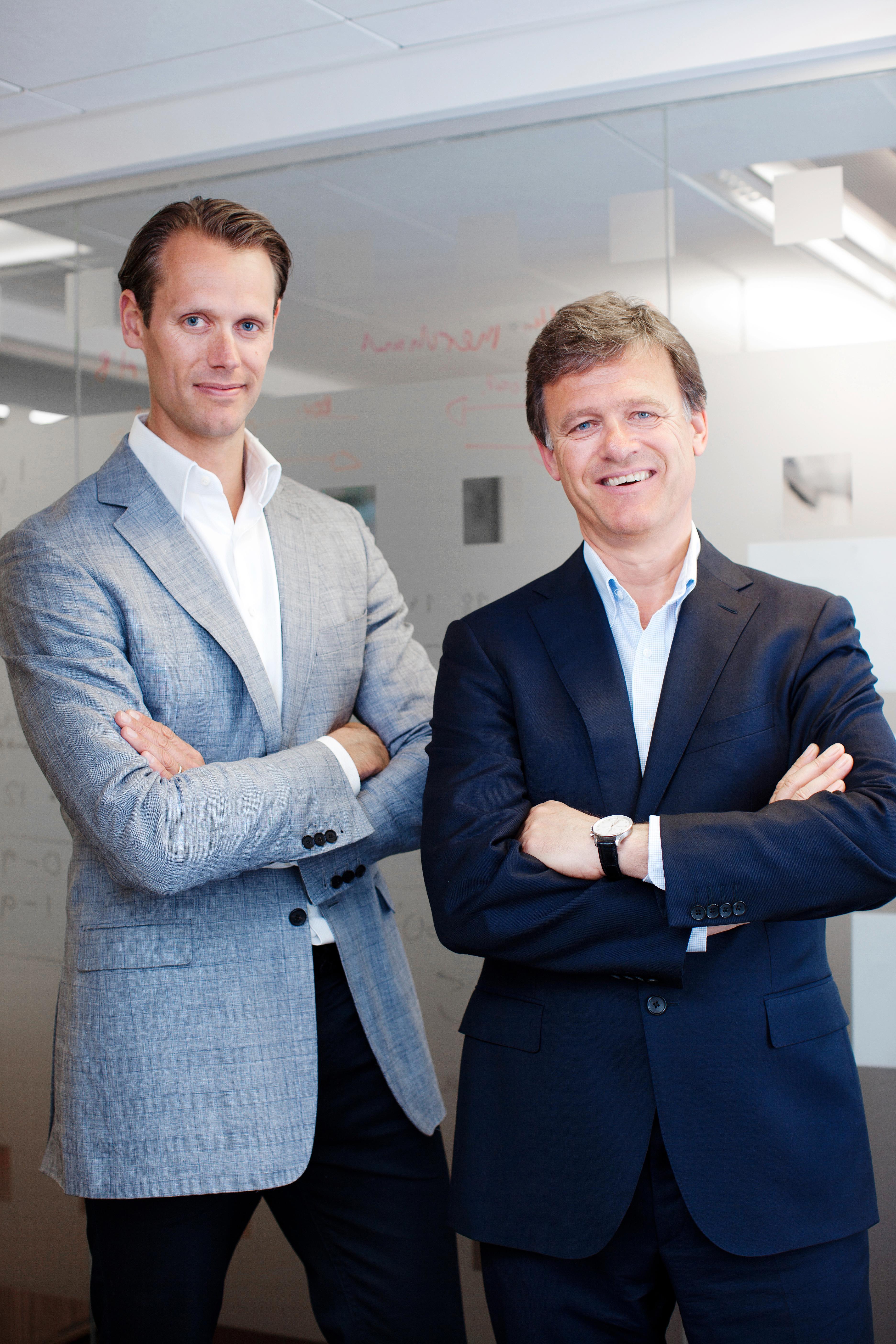 Jacob de Geer og Magnus Nilsson, grunnleggerne av det svenske mobilbetalingsselskapet iZettle.Foto: iZettle