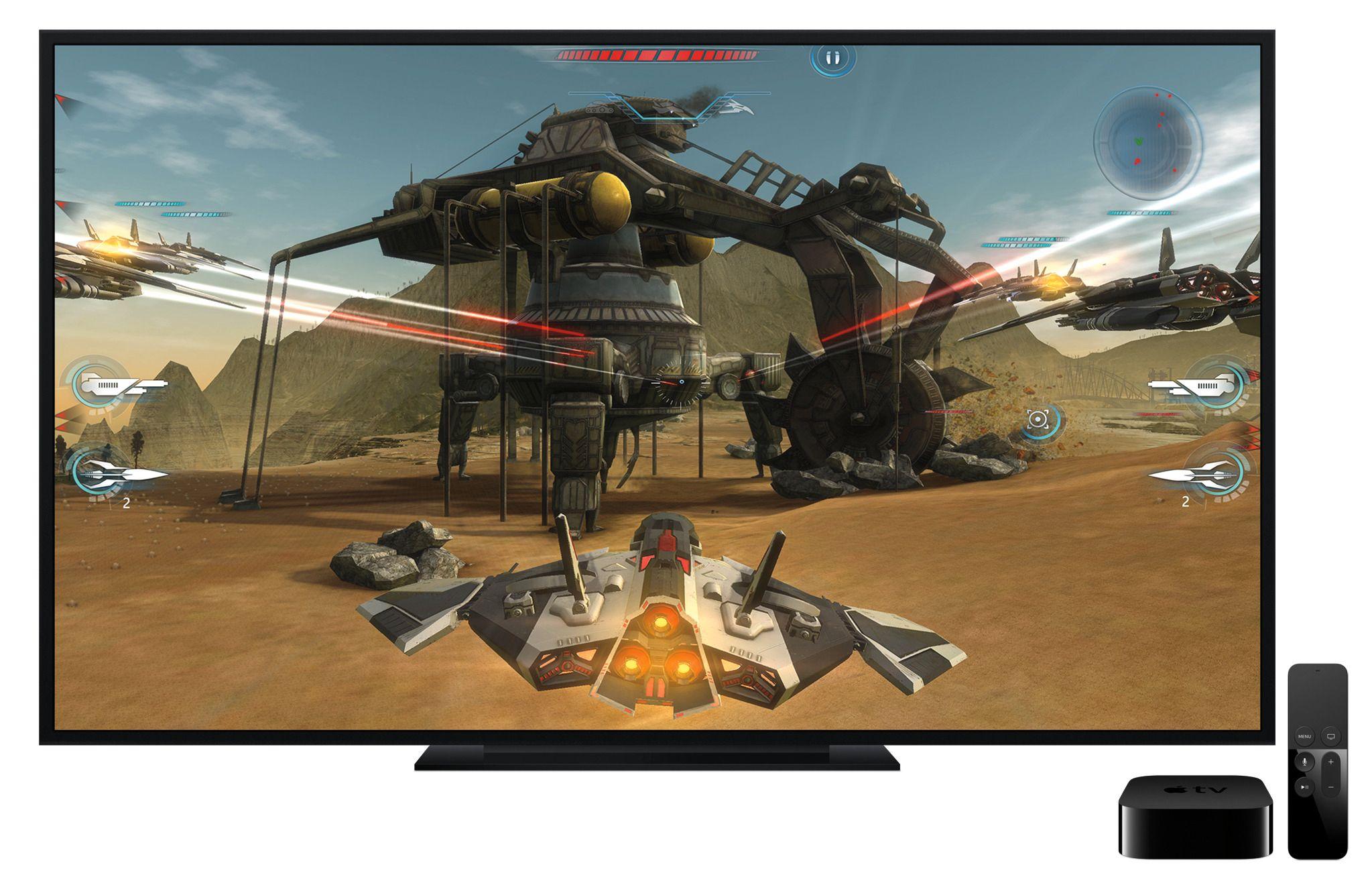 Selv om Apple viste Apple TV ved siden av en TV, kan den også gjemmes helt bort. Foto: Apple