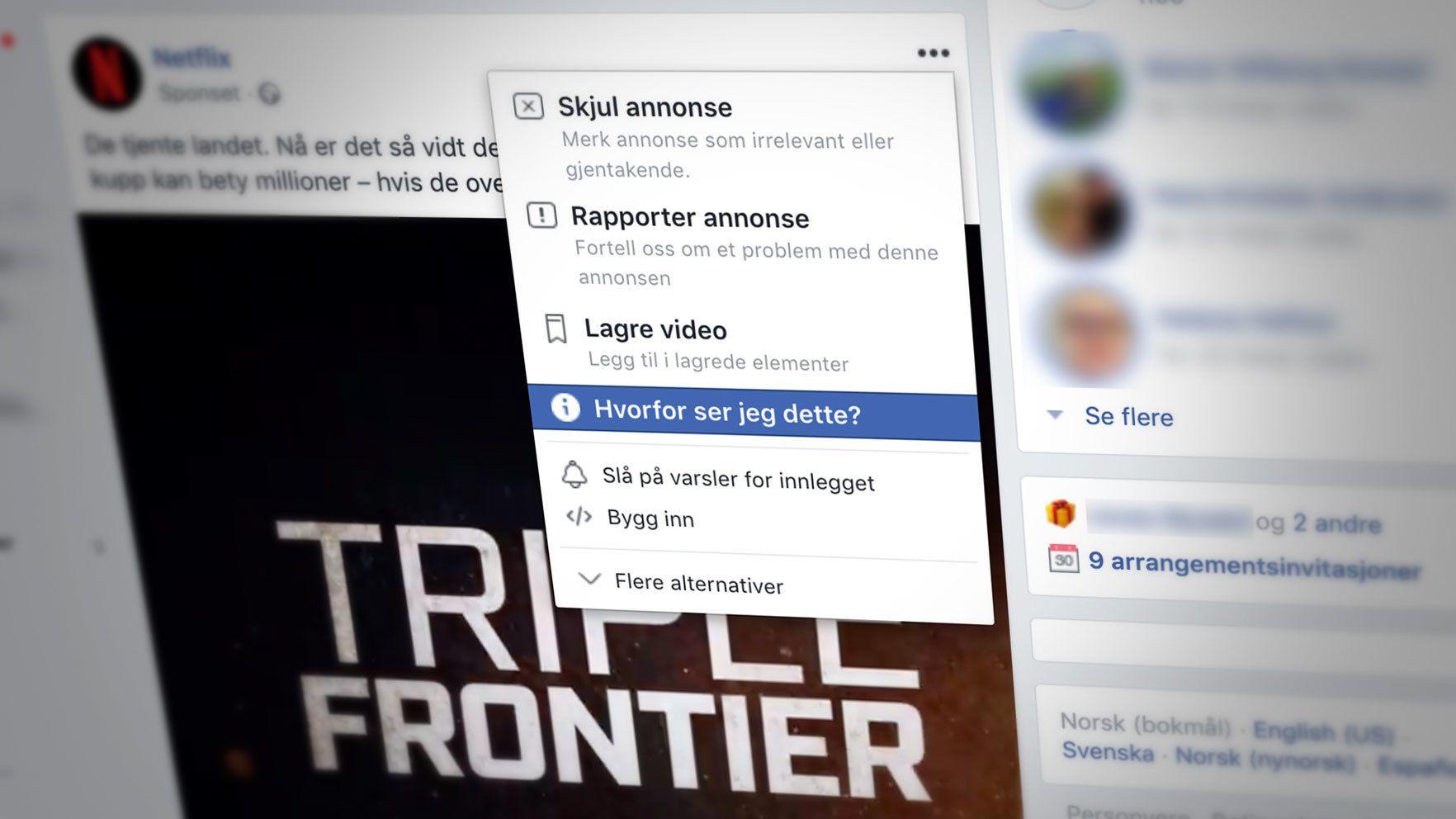 Facebook letter på sløret: Lar deg se hvorfor du ser visse innlegg i nyhetsstrømmen