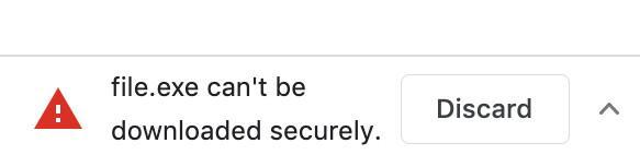 Slik vil advarselen du får fra Google i fremtiden se ut.