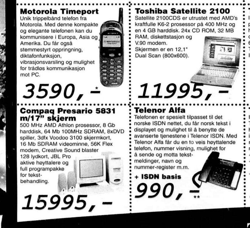 Compaq-en nederst til venstre kostet 15 995 i 2000, som tilsvarer i overkant av 21 000 kroner i dag.