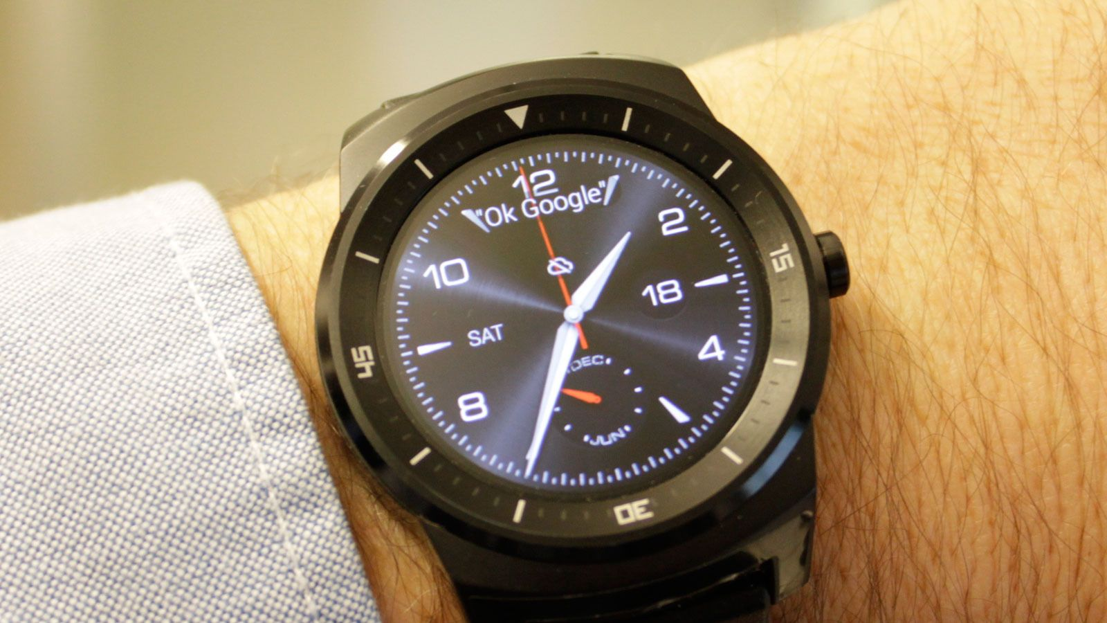 LG G Watch R.Foto: Espen Irwing Swang, Tek.no