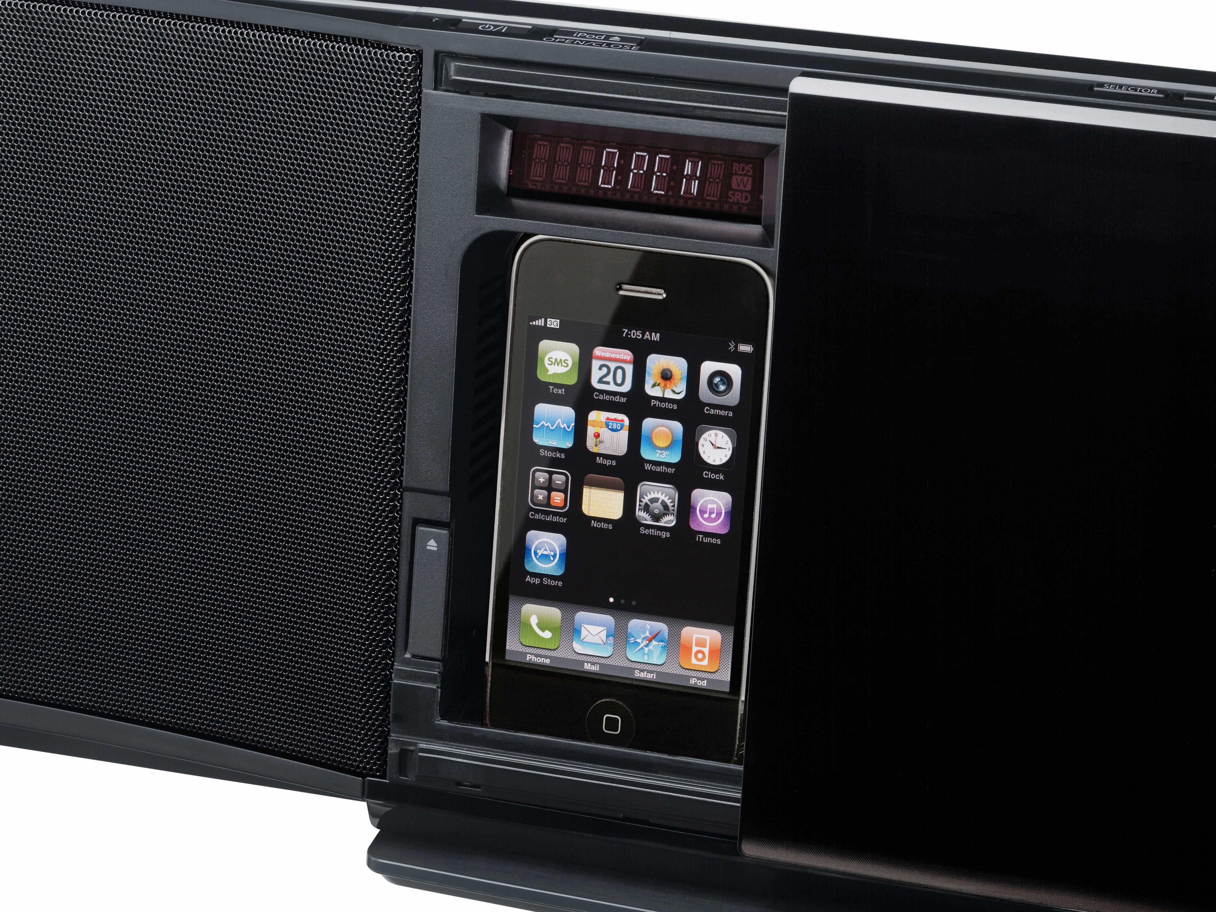 Dokking for iPod/iPhone er ganske genial.