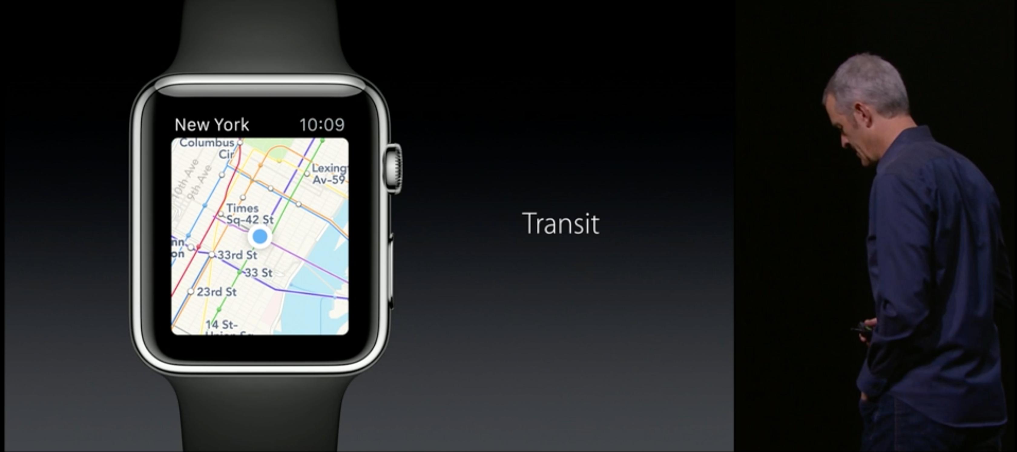 Kart-appen på klokken vil nå ha støtte for kollektiv-trafikk.