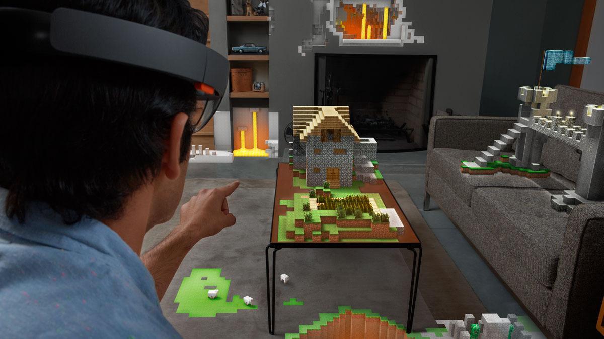 Dette er omtrent det du hadde sett hvis du tok på deg Microsofts HoloLens-briller. Foto: Microsoft