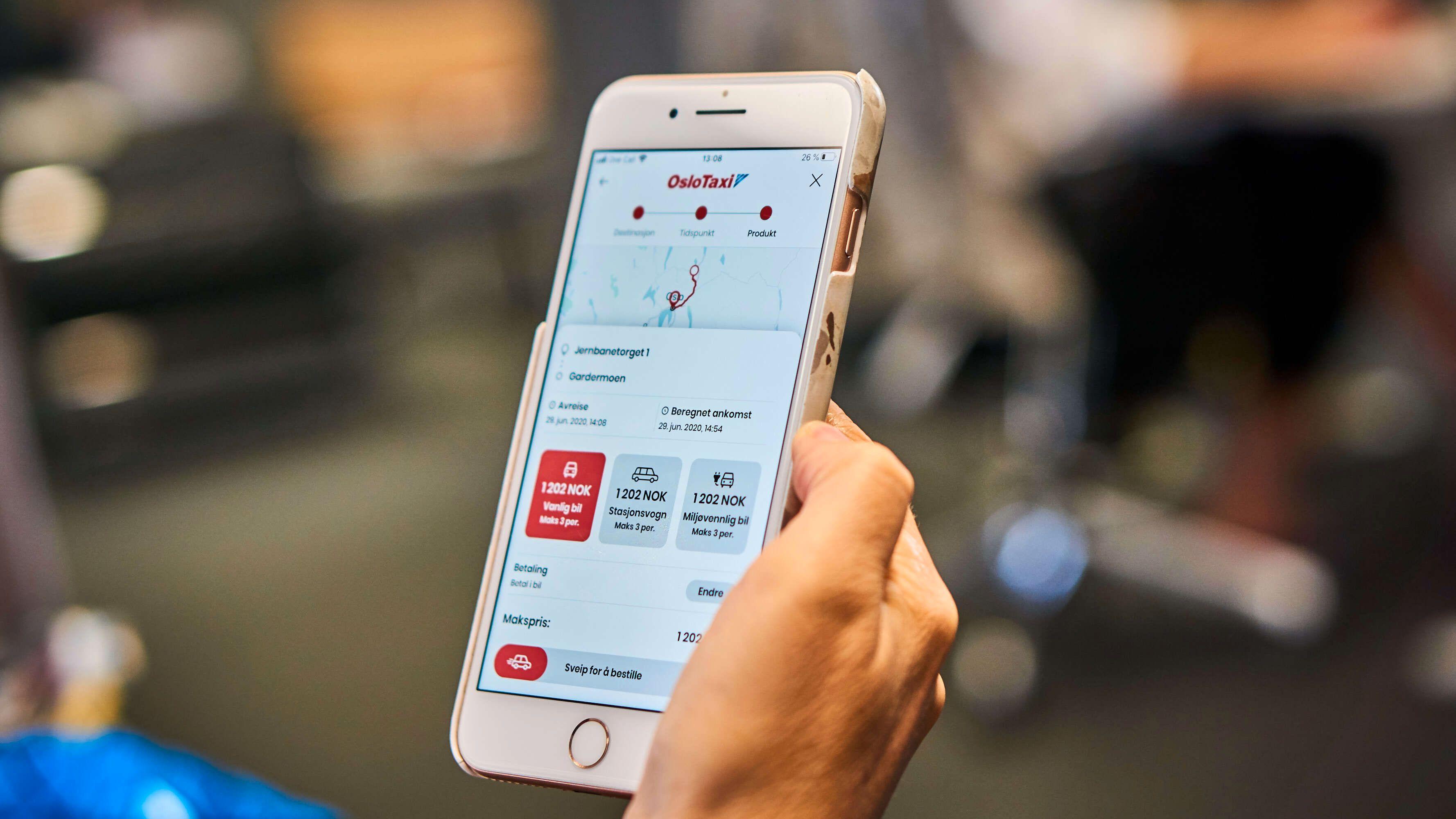 Den nye Taxifix-appen bringer med seg en del funksjoner vi blant annet kjenner fra Uber, som muligheten for samkjøring og å etterspørre biltype på forhånd.