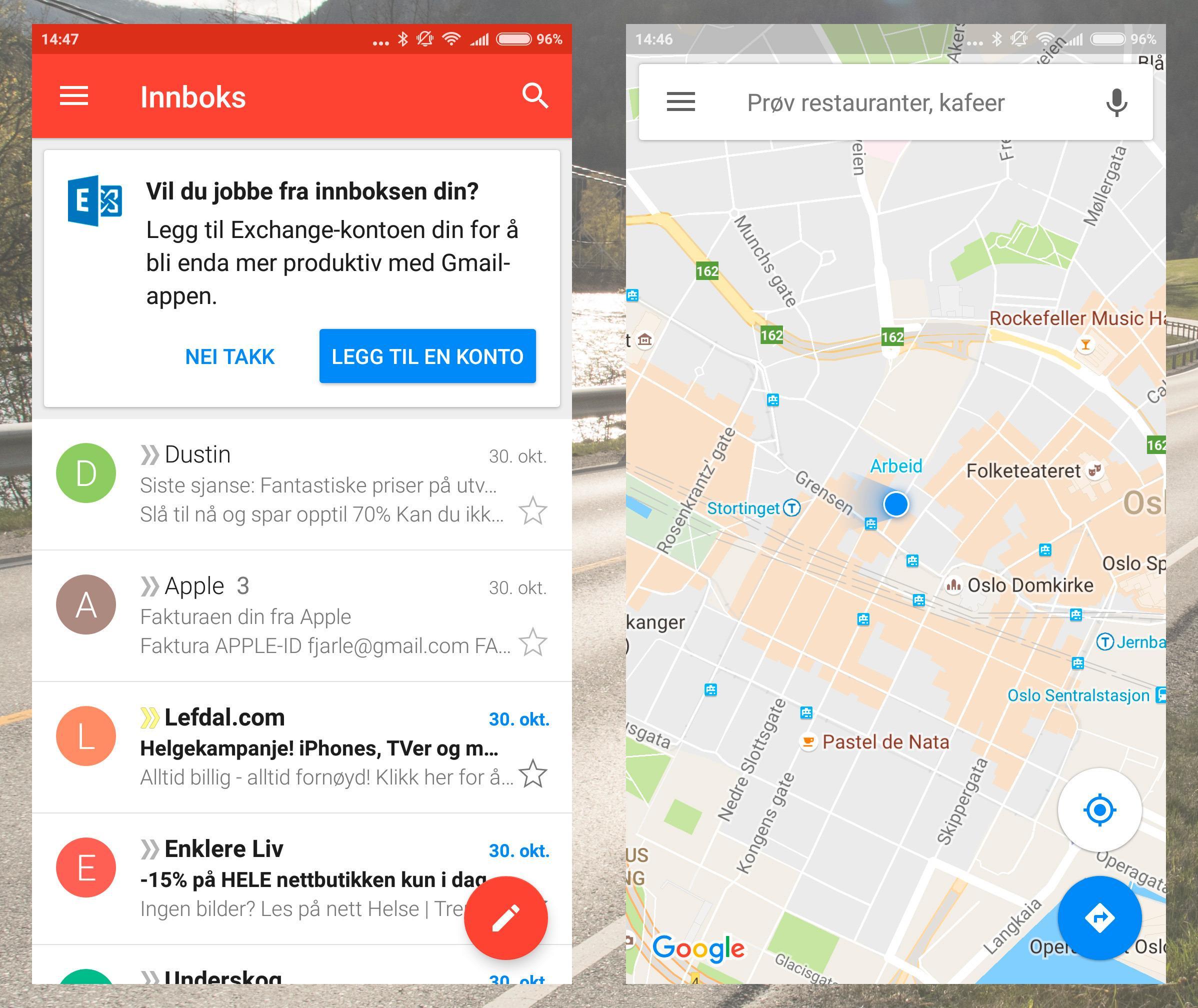Google Play ligger her fra før, men resten av Google-appene må du hente ned selv, hvis du trenger dem.