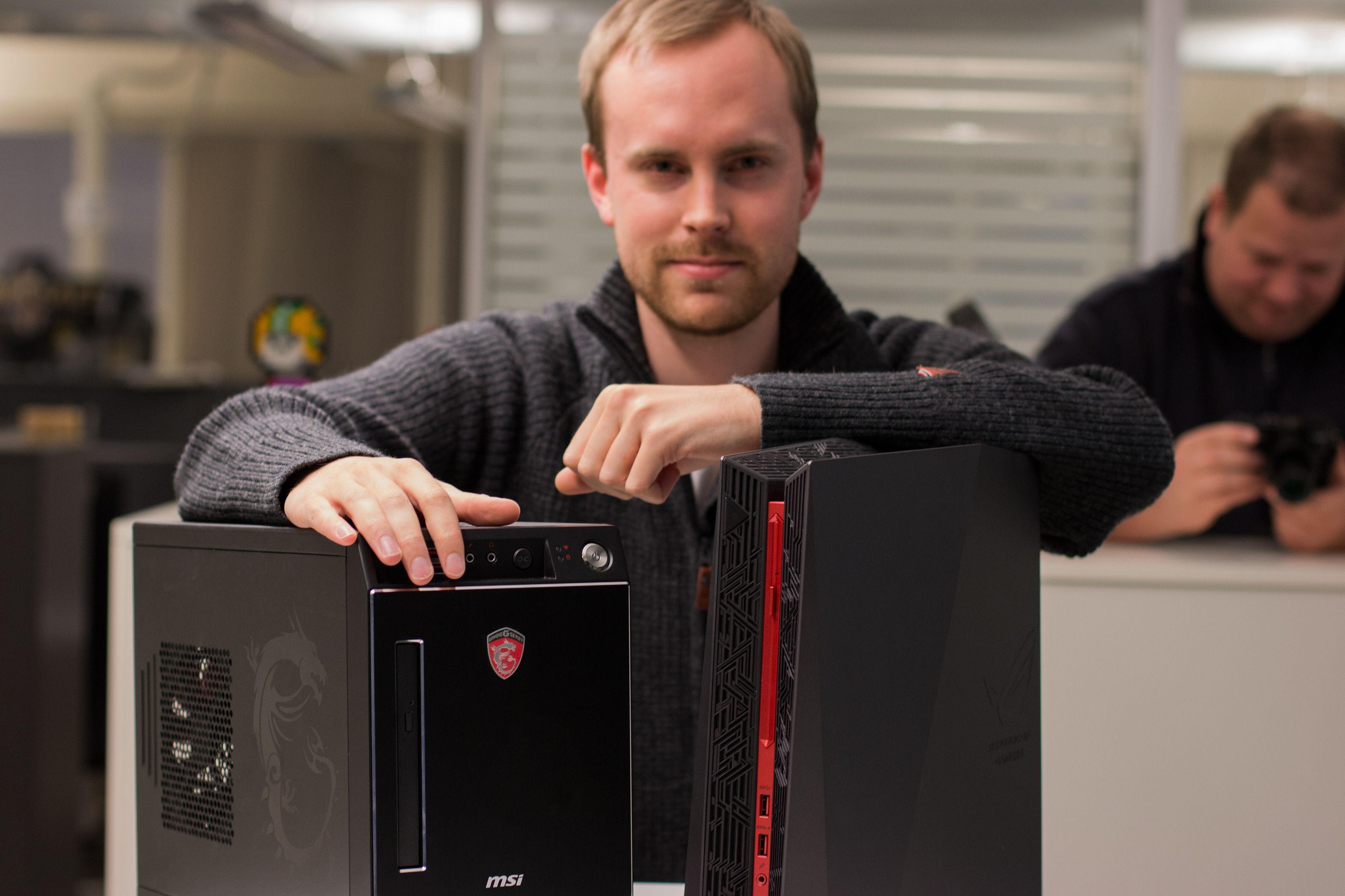 Vi hentet inn to plasseringsvennlige og kraftige spillmaskiner til test. Hvilken av MSI Nightblade X2 og Asus ROG G20CB som passer deg best skal vi forsøke å gi svar på over de to neste sidene.