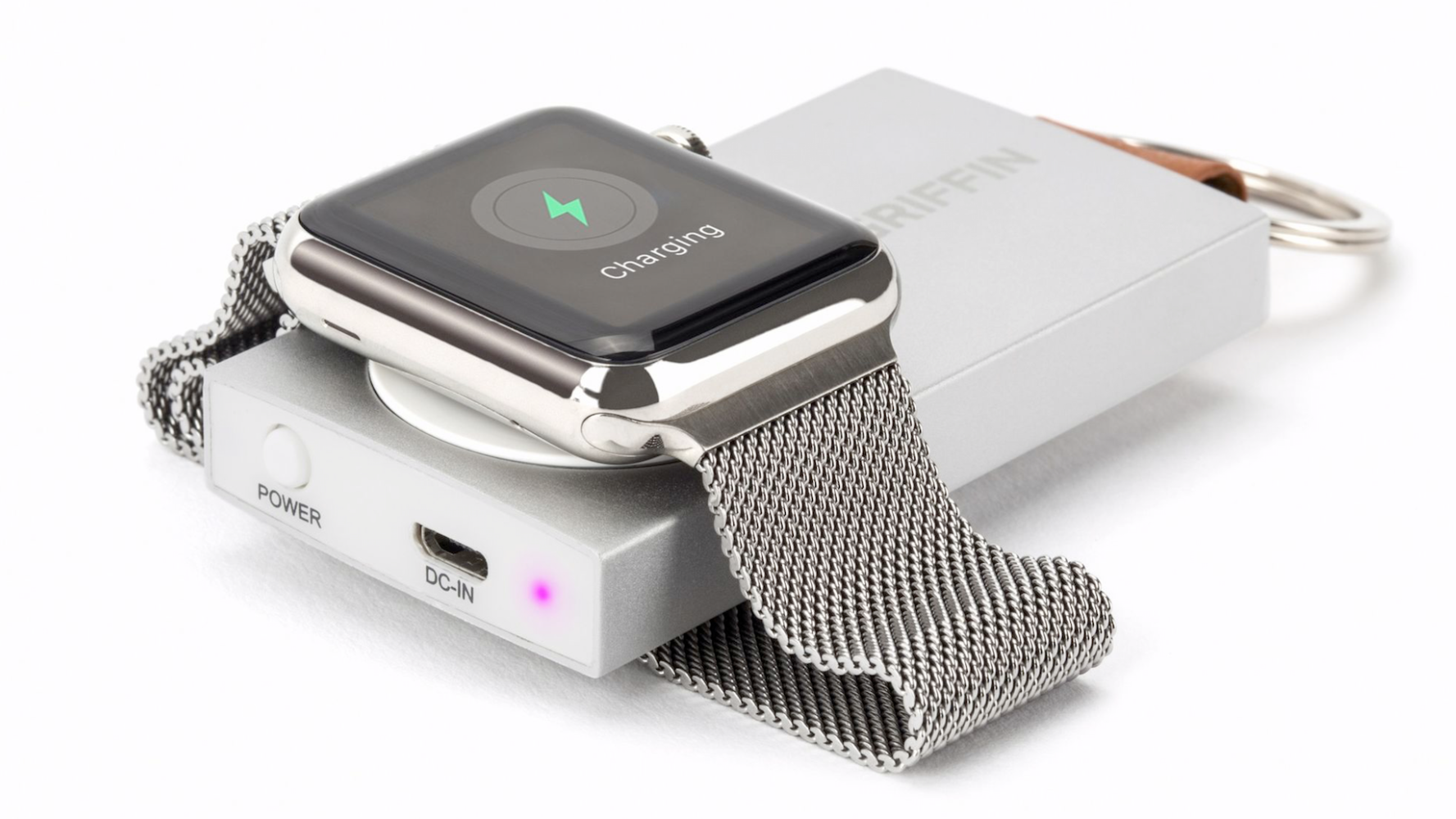 Lanserte nøkkelringbatteri til Apple Watch