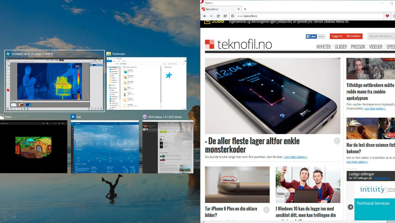 «Snapping» har blitt mye bedre i Windows 10 - Guide - Tek.no