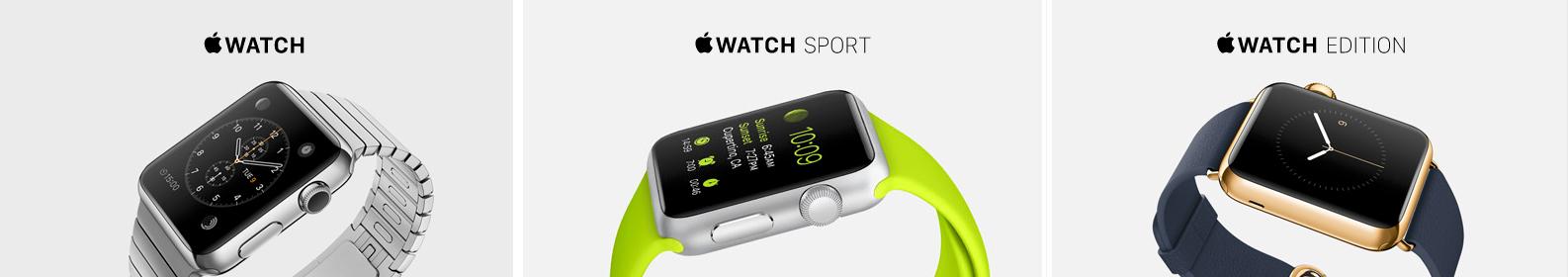 Apple Watch kommer i tre ulike modeller. Foto: Apple