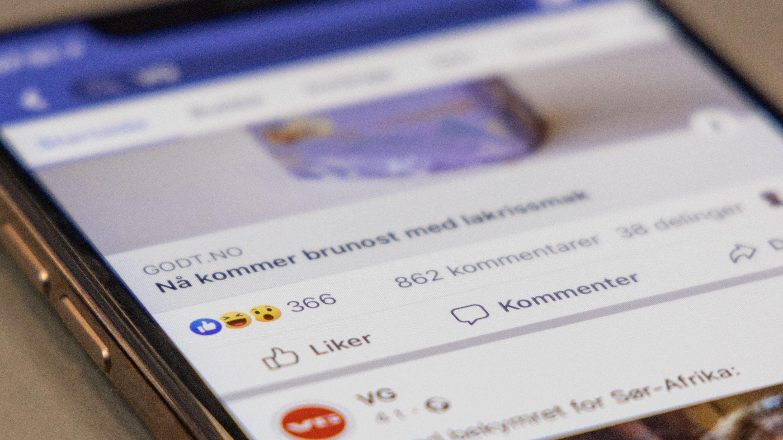Facebook vil prøve å fjerne antallet «likes» på innlegg