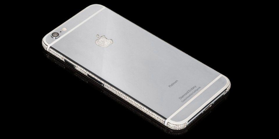 Du får de svinedyre telefonene i andre utgaver også. Her i Platinum-utgaven. Foto: Goldgenie